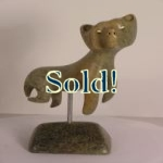Inuit sculpture - large swimming bear